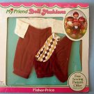 1984 FISHER PRICE MY FRIEND 229 KNICKERS OUTFIT 1982 MINT ON SEALED CARD