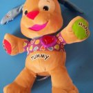 """15"""" INTERACTIVE FISHER PRICE LAUGH & LEARN PUPPY 40+ Sing-along songs & stories"""