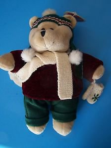 "10"" STARBUCKS COFFEE BEARISTA  TEDDY BEAR SNOWY DAY 2005 Winter Fun w/Tag"