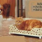 WOODEN PAW PRINT BED w/BED CUSHION  MIB 4 Furry Friends