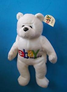 """1999 EBAY MAGAZINE  9"""" BEAR BEANIE BABY w/Tag"""