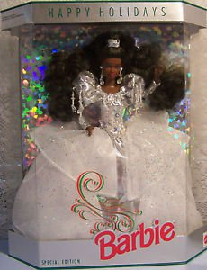 1992 AA  HAPPY HOLIDAYS SPECIAL ED. Silver  African American BARBIE  NRFB