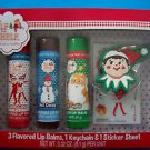 the ELF on the SHELF 3 Flavored Lip Balms, 1 Keycahin & 1 Sticker Sheet NRFB