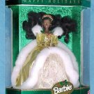 1994   AA HAPPY HOLIDAYS SPECIAL ED. GOLD   BARBIE DOLL AFRICAN AMERICAN  NRFB
