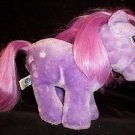 "10"" VINTAGE 1984 BLOSSUM MY LITTLE PONY MLP SOFTI PURPLE w/ STARS HASBRO Tushtag"