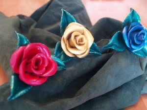 Handcrafted Leather Roses