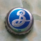 Blue/silver Brooklyn Brewing beer bottle cap - Brooklyn, NY.