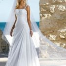 A-Line Straps Court Train Taffeta Wedding Dress