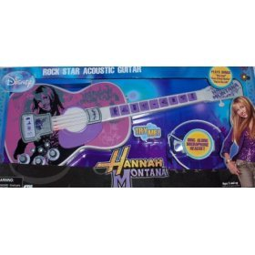 Hannah Montana Rock Star Acoustic Guitar TOY
