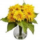 Nearly Natural Golden Sunflower Arrangement #4906