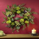 "Nearly Natural 20"" Artichoke Floral Wreath  Item Number: 4684"