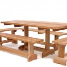 WESTERN RED CEDAR 5 PIECE MARKET PICNIC TABLE 10 PERSON ALL THINGS CEDAR MT70U-5