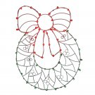 "Vickerman 48"" x 36"" Wreath n' Bow C7 Wire Motif V146039"