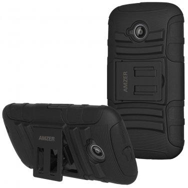Amzer® Hybrid Kickstand Case - Black/ Black 97682