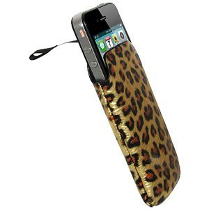 Amzer® Leopard Print Sleeve with Ribbon Pull-Out 83747