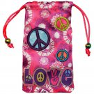 Amzer® Drawstring Pouch - Peace & Love 96711