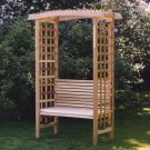 Garden Arbor with Bench GA87U-AB44U by All Things Cedar