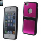 Reiko METALLIC ProtectorCover IPHONE5 with 2-WAY KICKSTAND HOT PINK #MPC03-IPHONE5HPK