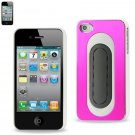 Reiko METALLIC Protector Cover bend back viewing stand IPHONE4s HOT PINK WHITE #MPC04-IPHONE4SHPKWH