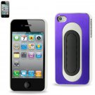 REIKO METALLIC Protector Cover IPHONE4s PURPLE WHITE #MPC04-IPHONE4SPPWH