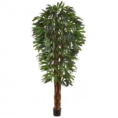 84� Raphis Silk Palm Tree  by Nearly Natural: 5456