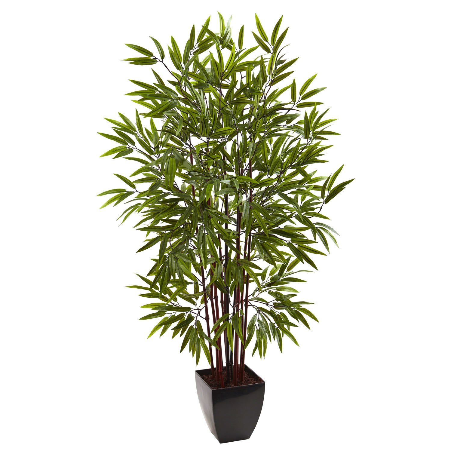 5� Bamboo Silk Tree w/Planter by Nearly Natural: 5458