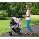 Happy Trails No-Zip Pet Stroller - Pink Diamond PG8100NZPD