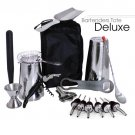 Bartender's Tote – Stainless Steel DELUXE (17pc)