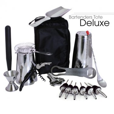 Bartender's Tote � Stainless Steel DELUXE (17pc)