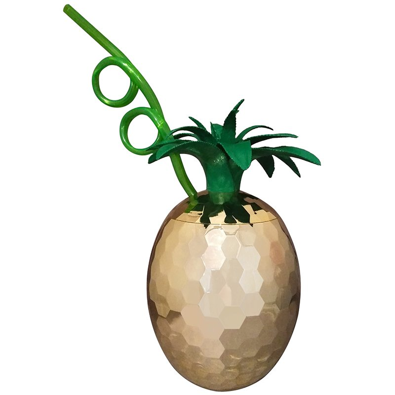 Pineapple Party Cup with Straw 62171