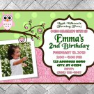 Owl Birthday Invitation - Digital Copy