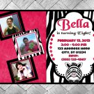 Zebra Birthday Invitation - Digital Copy