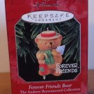 Hallmark Keepsake Ornament Forever Friends Bear Handcraft-Dated 1998