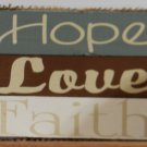 Hope Love & Faith Block Set