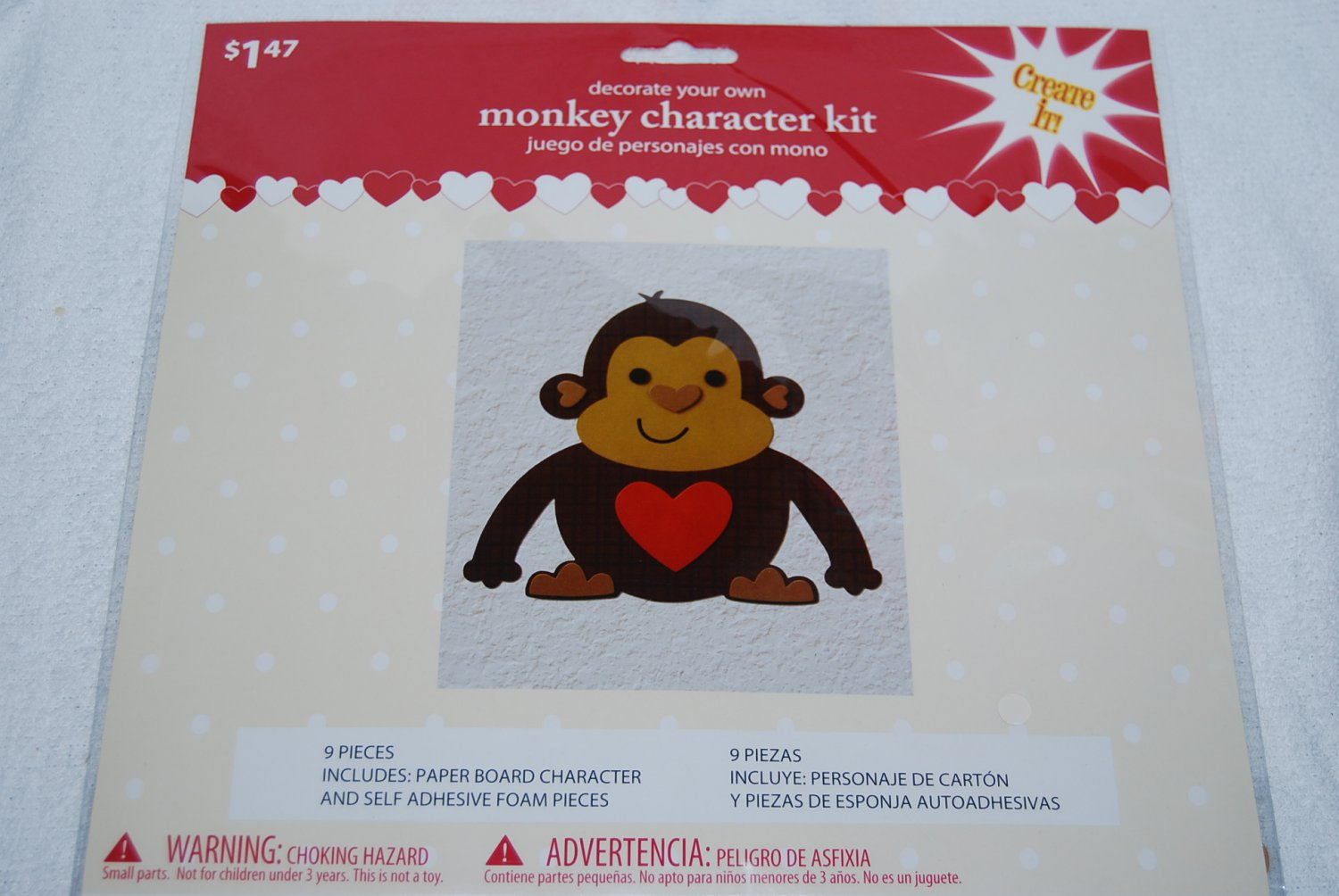 Decorate Your Own Brown Monkey Character Kit