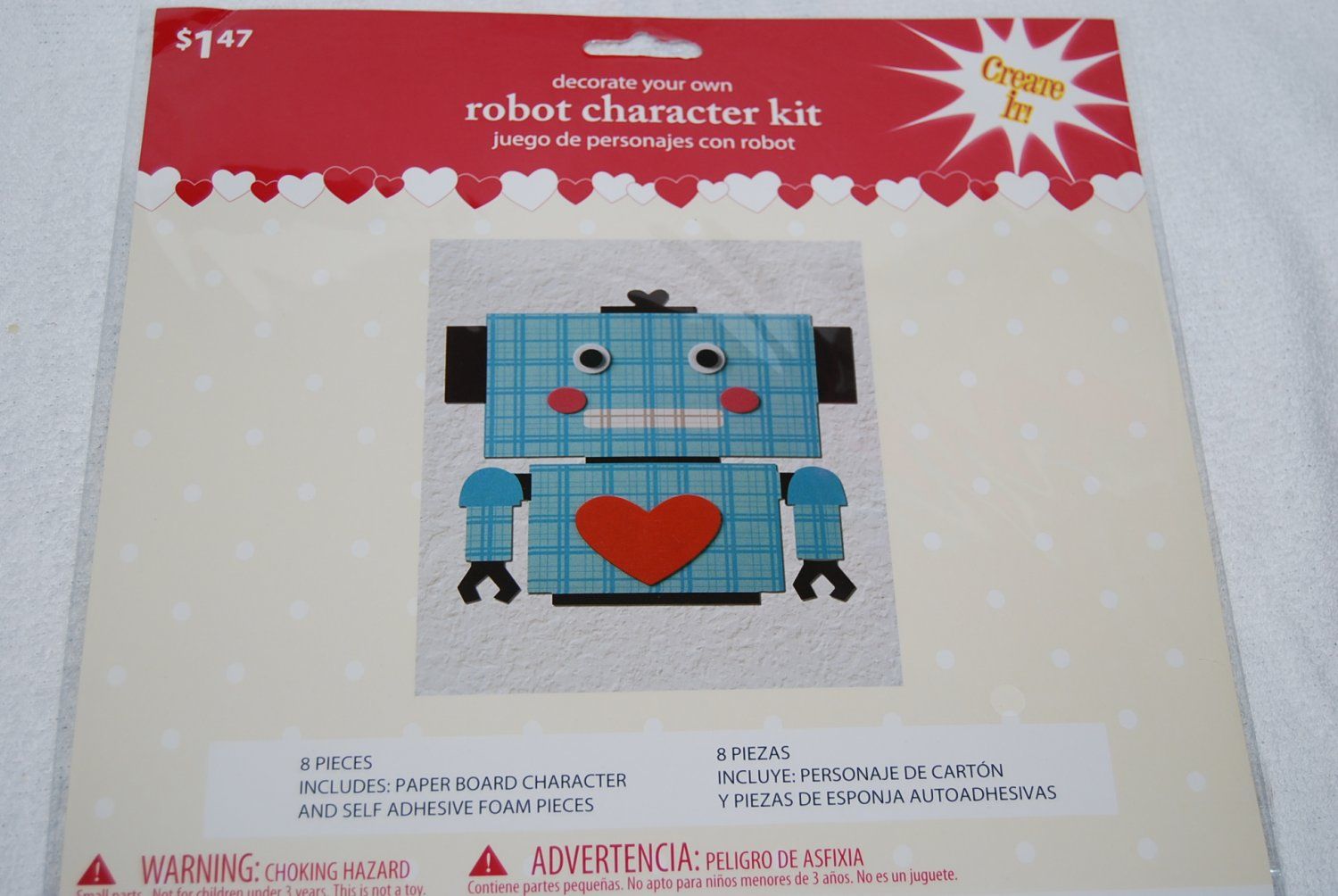 Decorate Your Own Blue Robot Character Kit