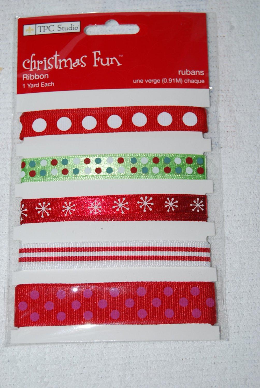 TPC Studio Christmas Fun Ribbon 1 Year Each for Scrapbooks 2009876