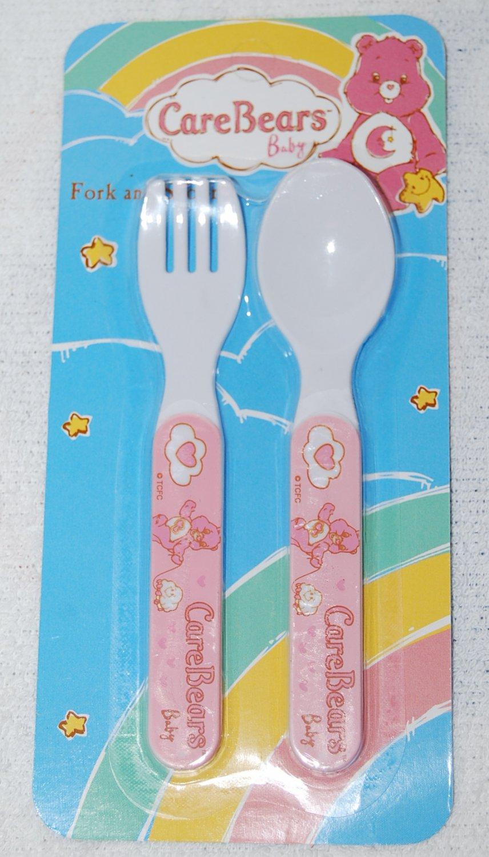 Care Bears Baby Fork & Spoon Utensils Pink