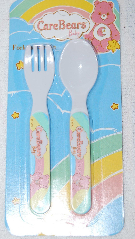 Care Bears Baby Fork & Spoon Utensils Green