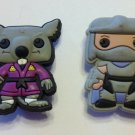 TMNT 2pc Shoe Charms Shredder and Master Splinter