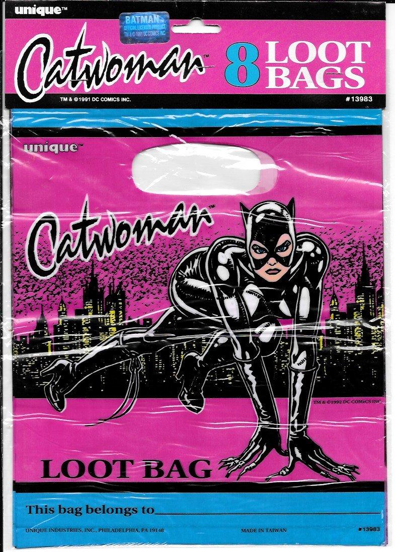 Vintage Cat Woman Loot Goodie Bag Party Favor bags