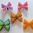 Large Polka Dot Bow Shoe Charms Party Favors