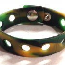"Camouflage Silicone Wristband Bracelets Holds Charms 7"" or 8"""