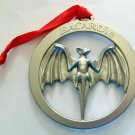"Barcardi 3"" Round Metal bat Logo Ornament"