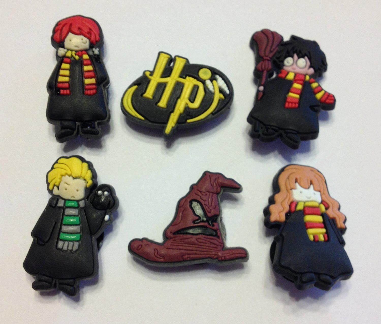 Harry Potter 6pc Shoe Charms Party Favors