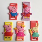 PVC Shoe Lace Cartoon Character Inserts - Peppa Pig