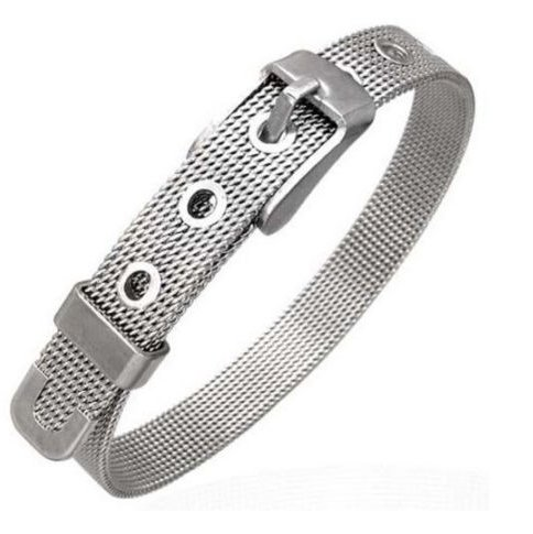 Stainless Steel Mesh Belt Buckle Wristband Bracelet
