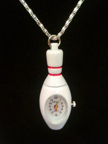 Bowling Pin Watch Necklace