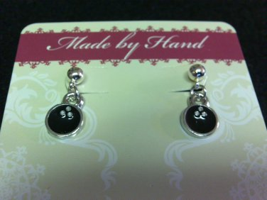 Bowling Ball Dangling Post Earrings