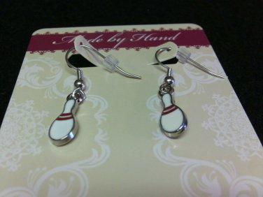 Bowling Pin Dangling [fish hook] Earrings